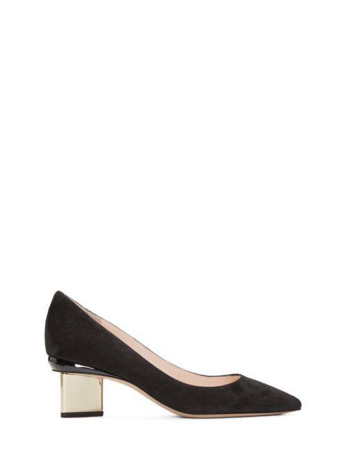 Nicholas Kirkwood   Черный Black Suede Prism Heels