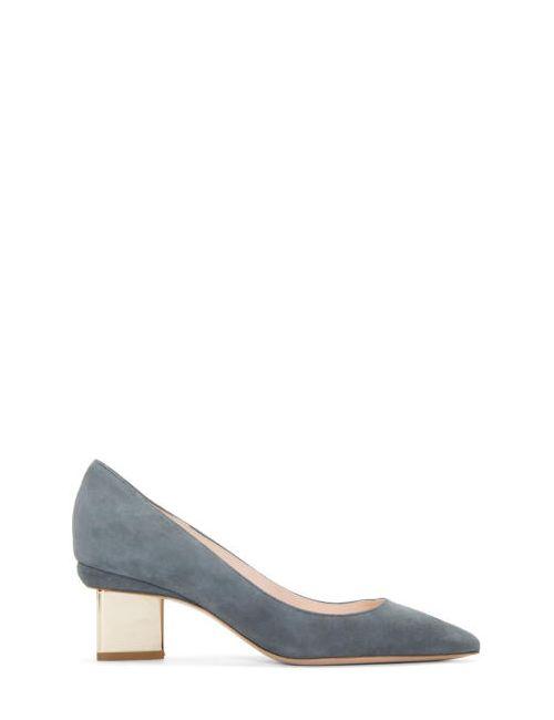 Nicholas Kirkwood | N30 Charcoal Grey Suede Prism Heels