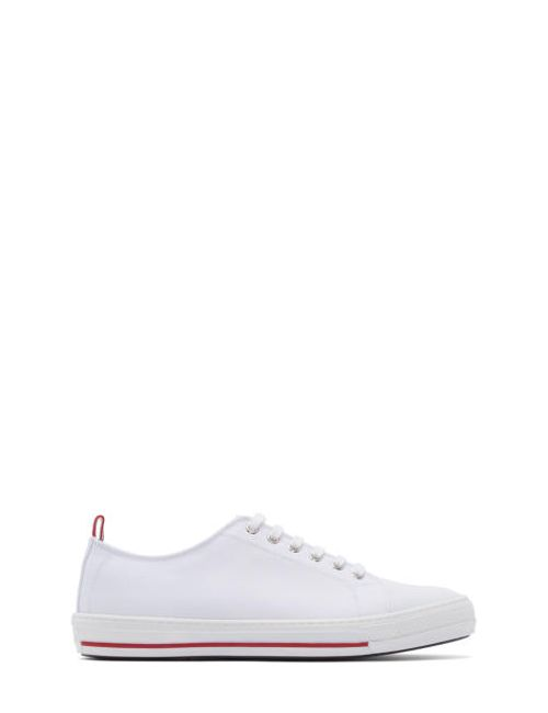 Moncler Gamme Bleu | Белый White Canvas Sneakers