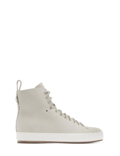 Feit | Beige Hand Sewn High-Top Sneakers