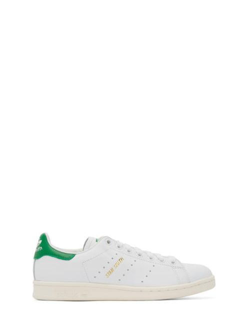 adidas Originals | Белый White And Green Stan Smith Sneakers