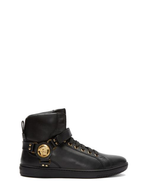 Versace | Чёрный Black Harness High-Top Sneakers