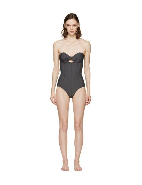 Lisa Marie Fernandez   Чёрный Black Poppy One-Piece Swimsuit