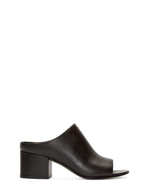 3.1 Phillip Lim | Чёрный Leather Cube Mules
