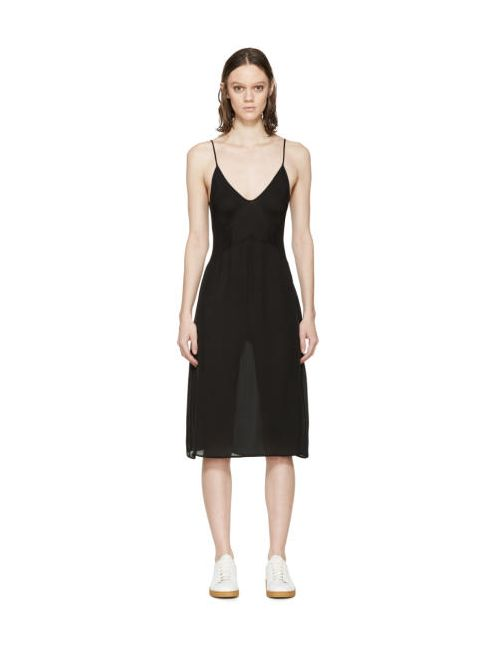 ARAKS | Чёрный Silk Cadel Slip Dress