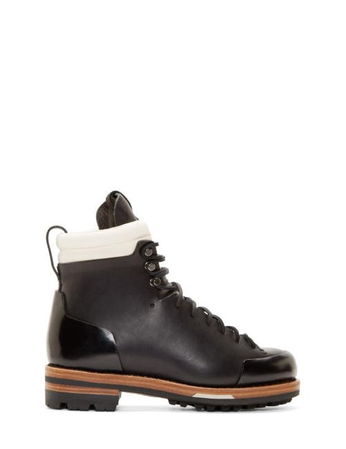 Feit | Чёрный Black Leather Arctic Hiker Boots