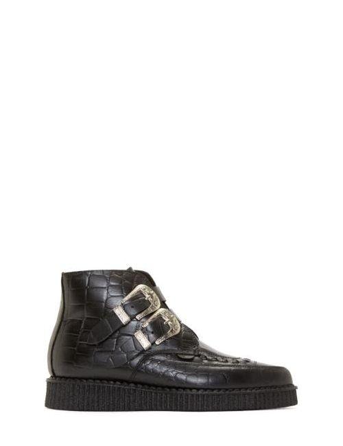 Underground | Чёрный Croc-Embossed Bowie Creeper Boots