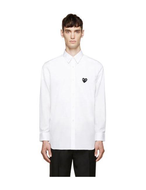 Comme des Gar ons Play | Белый Comme Des Garçons Play Heart Patch Shirt