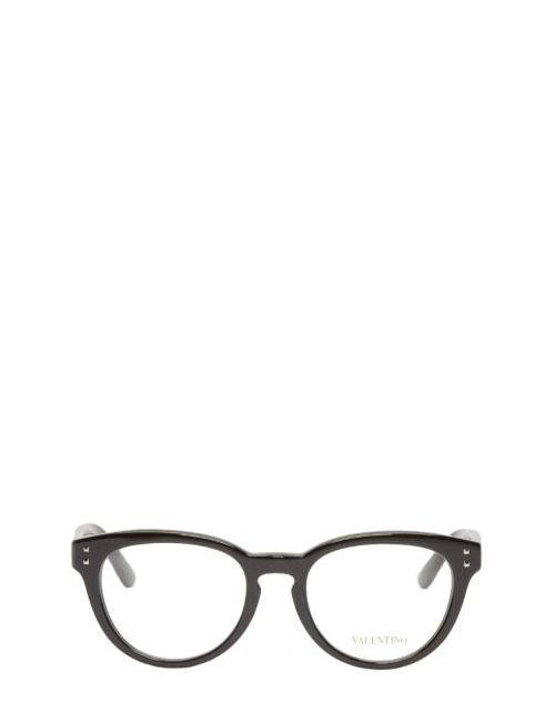 Valentino | Чёрный Black Round Rockstud Optical Glasses