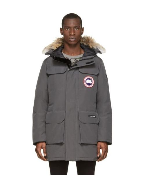 Canada Goose | Серый Grey Down And Fur Citadel Parka
