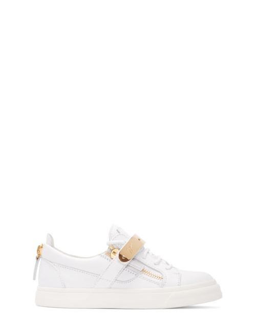 Giuseppe Zanotti Design | Белый Giuseppe Zanotti Leather London Low-Top Sneakers