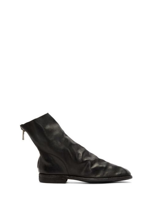 GUIDI | Черный Black Leather Chelsea Boots