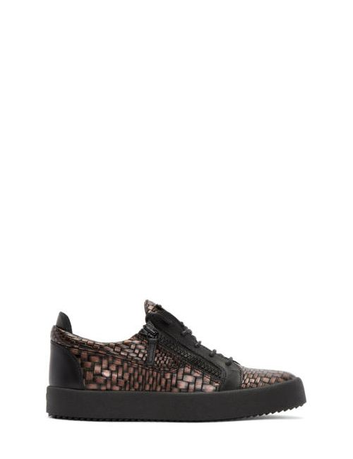 Giuseppe Zanotti Design | Чёрный Giuseppe Zanotti Croc-Embossed London Sneakers