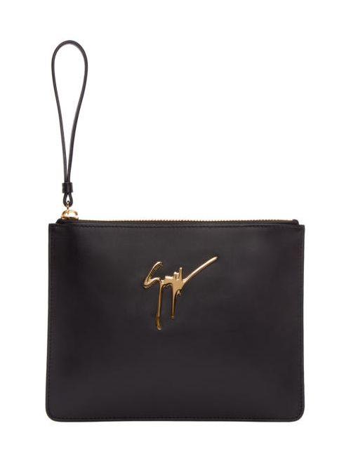 Giuseppe Zanotti Design | Чёрный Giuseppe Zanotti Leather Zip Pouch