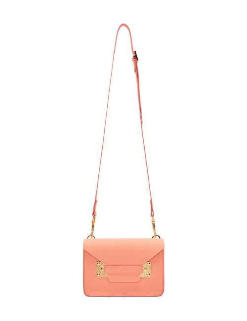 Sophie Hulme   Apricot Ssense Exclusive Pink Mini Milner Envelope Bag