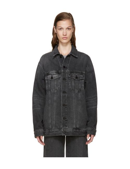 Alexander Wang | Серый Grey Denim Dazed Jacket