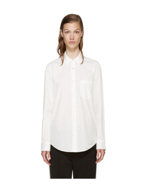 T By Alexander Wang | Белый White Poplin Shirt
