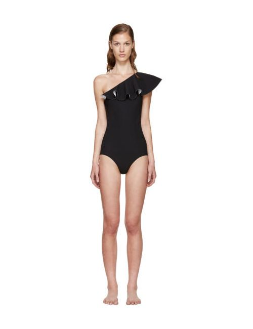 Lisa Marie Fernandez | Чёрный Black Arden Flounce Swimsuit