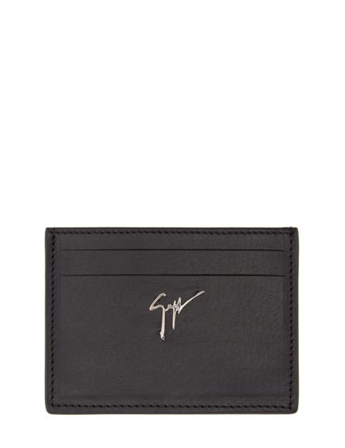 Giuseppe Zanotti Design | Чёрный Giuseppe Zanotti Leather Card Holder