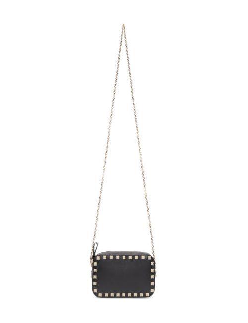 Valentino | Чёрный Black Rockstud Camera Bag