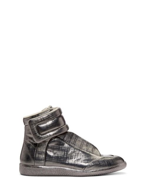 Maison Margiela | 859 Gunmetal Gunmetal Metallic Future High-Top Sneakers