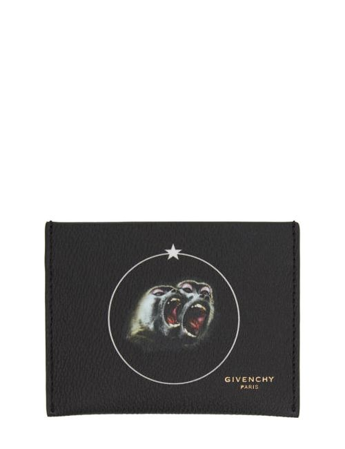 Givenchy | 960 Print Black Monkey Brothers Card Holder