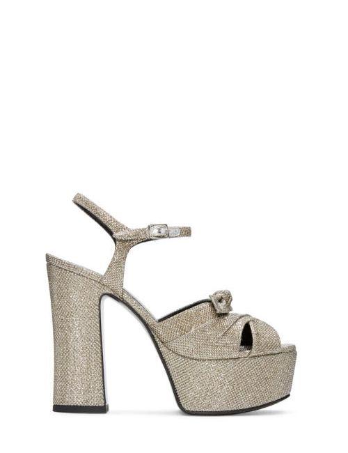 Saint Laurent | Золотой Silver Candy Sandals