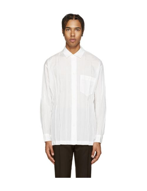Issey Miyake | Белый Men White Creased Shirt