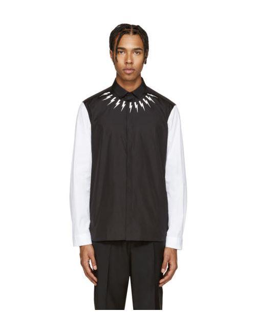 Neil Barrett | Чёрный Black And White Thunderbolt Shirt