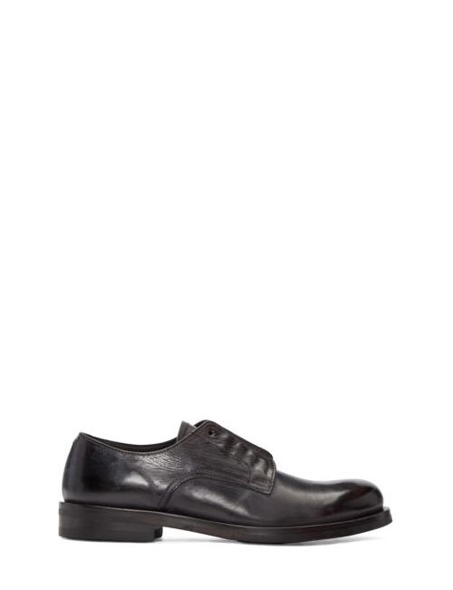 Issey Miyake | Черный Men Black Leather Derbys