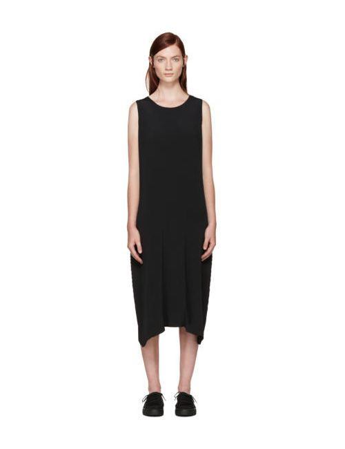 Issey Miyake | Чёрный Black Pleated Solid Earth Dress