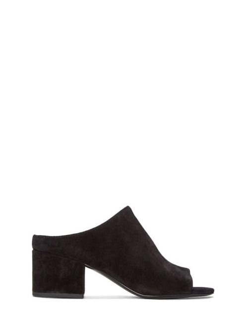 3.1 Phillip Lim | Чёрный Black Suede Cube Sandals