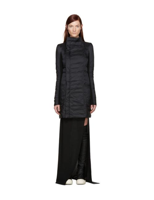 Rick Owens | Чёрный Black Nylon Eileen Down Coat