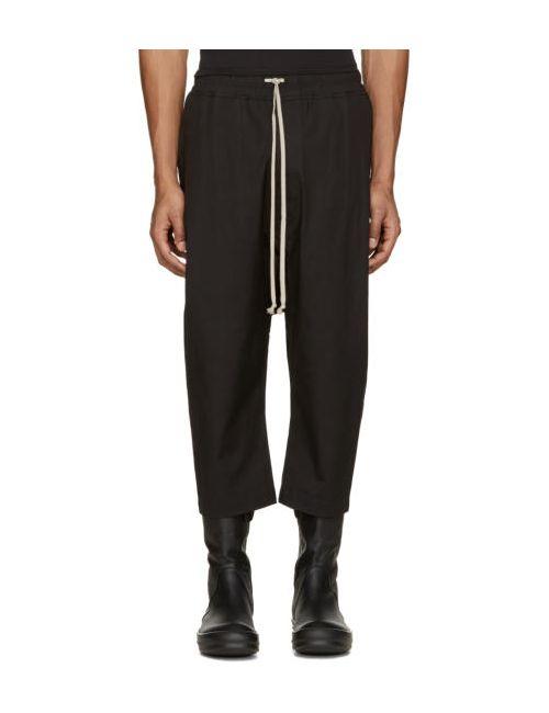 Rick Owens | Чёрный Black Cropped Drawstring Lounge Pants