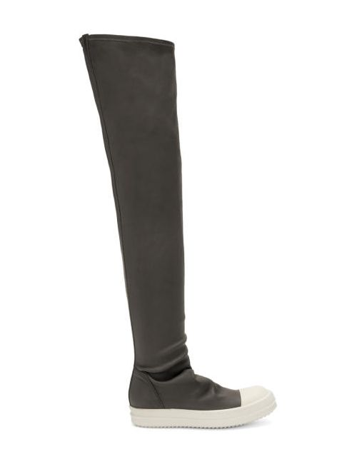Rick Owens | Белый Grey High Sock Boots