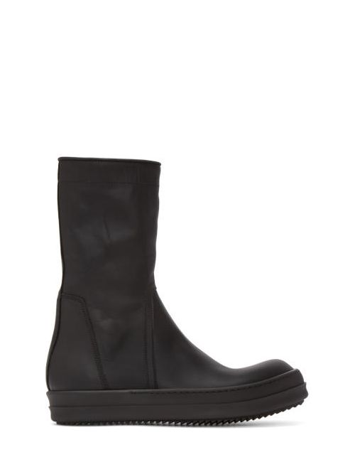 Rick Owens | Чёрный Black Basket Creeper High-Top Sneakers