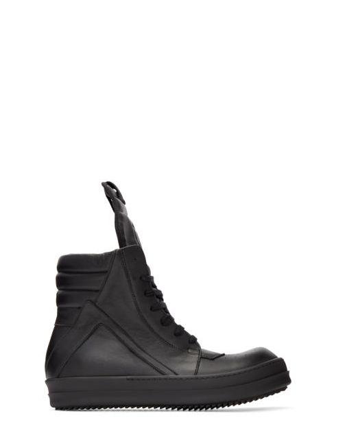 Rick Owens | Чёрный Black Geobasket High-Top Sneakers