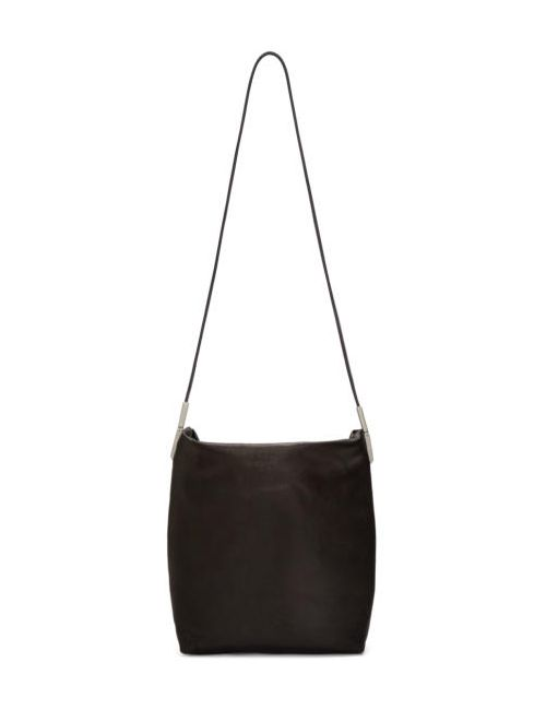 Rick Owens   Чёрный Black Leather Adri Bag