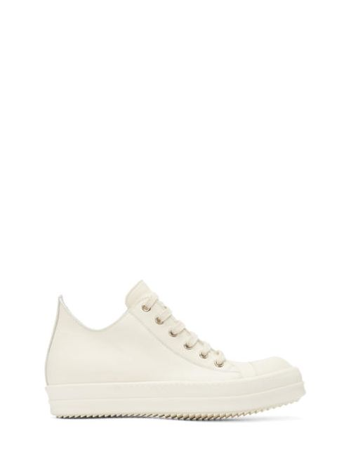 Rick Owens   Белый White Leather Low Sneakers