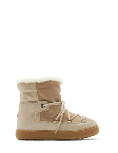 Moncler | Бежевый Beige Shearling Fanny Ankle Boots
