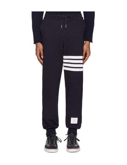 Thom Browne | 461 Navy W & #47; Optic Wh Navy Classic Lounge Pants