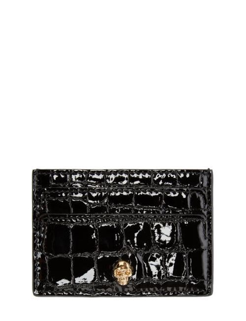Alexander McQueen | Чёрный Black Skull Card Holder