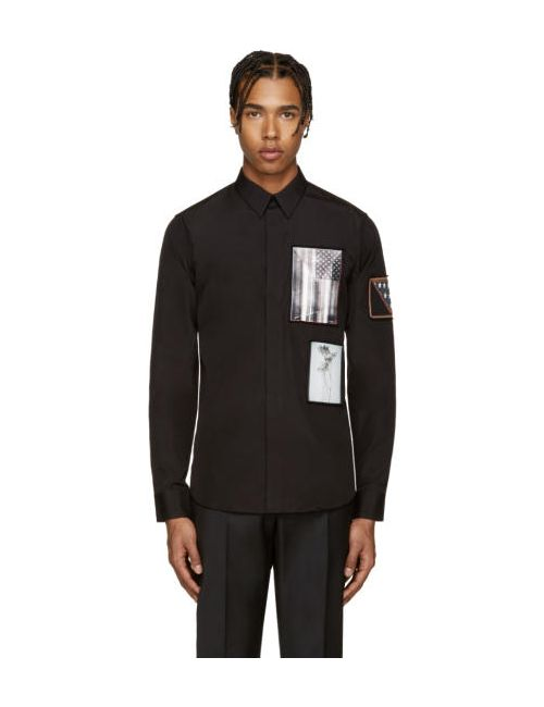 Givenchy | Черный Black Patches Shirt