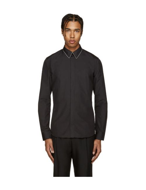 Givenchy | Чёрный Black Chain Collar Shirt