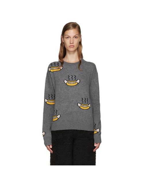 Acne | Серый Grey Phira Hot Dog Pullover