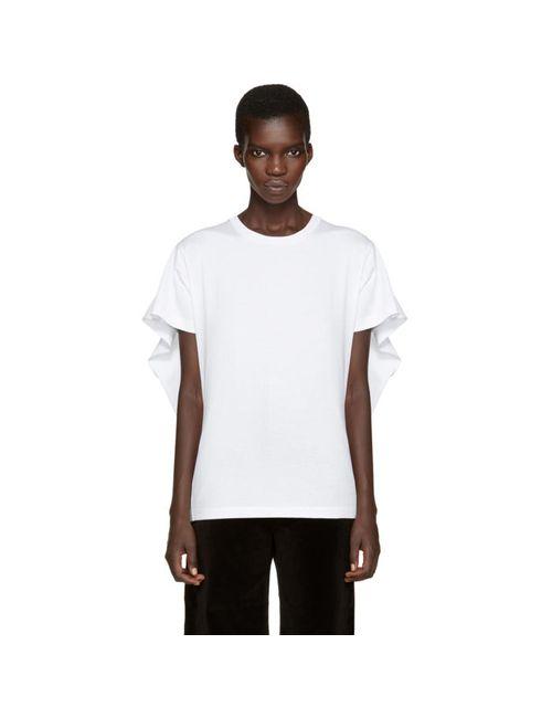 MM6 by Maison Margiela | Белый Mm6 Maison Margiela White Overlay T-Shirt