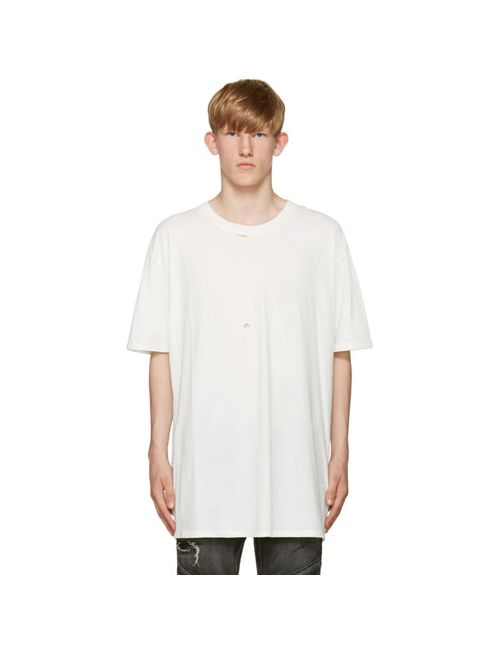 Faith Connexion | Мужское Белый White Destroyed T-Shirt