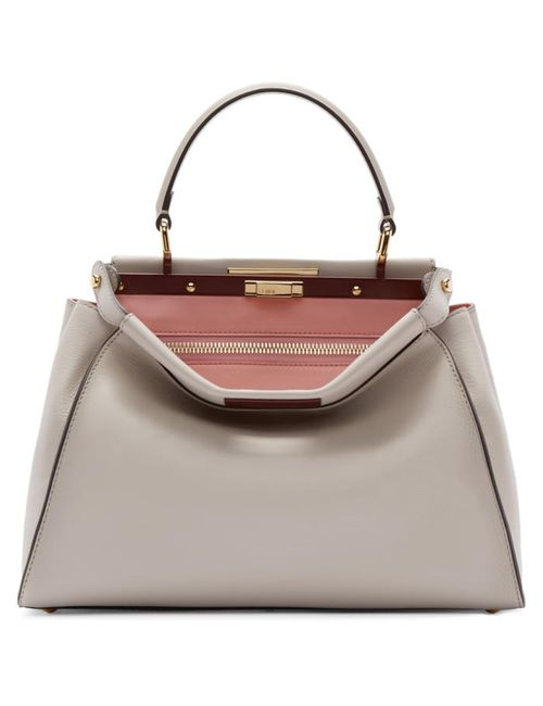 Fendi | Розовый Beige Regular Peekaboo Bag