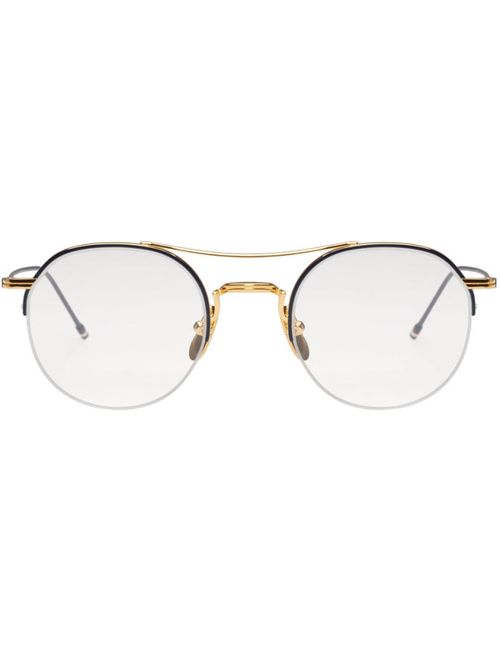 Thom Browne | Золотой Gold Semi-Rimless Optical Glasses