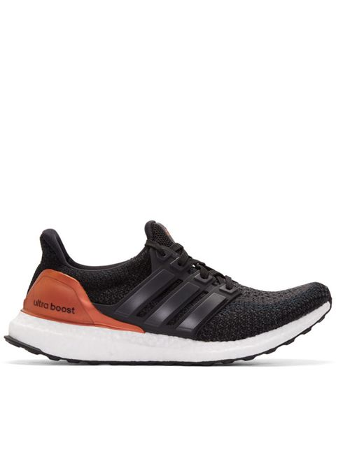 adidas Originals | Чёрный Black And Orange Ultra Boost Sneakers